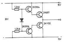 15V symmetric power supply circuit