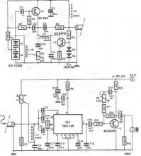 TBA120 radio receiver for medium and long rf bands circuit