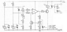 Temperature differences switches circuit