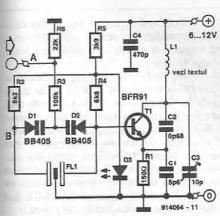 Radio remote transmitter circuit diagram