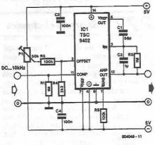 TSC9402 voltage frequency converter electronic project