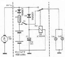 Warning lights for bicycles electronic circuit project schematic