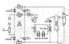 Xenon strobe electronic circuit project schematic