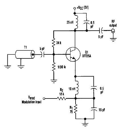 varactorless high frequency modulator electronic circuit