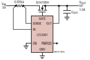 LTC4361 overvoltage overcurrent circuit diagram