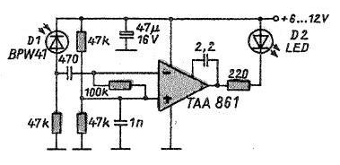 Схема тестера ИК-пульта ДУ