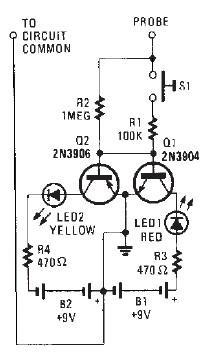 Схема индикатора постоянного тока переменного тока