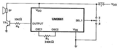 UM3561 electronic police ambulance fire engine siren circuit diagram