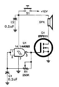 Simple horn electronic circuit diagram