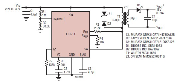 15 volt power supply circuit electronic project