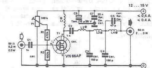 Rf Amplifier Circuit Diagram For 10 Meters Band