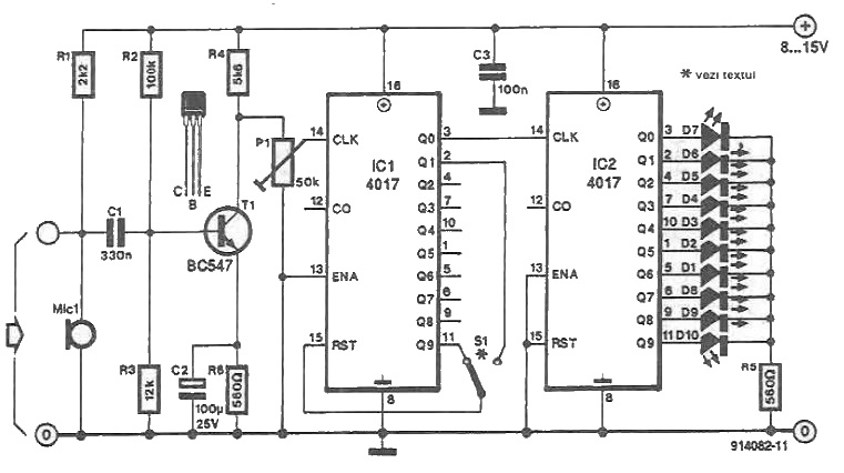 Color lights organ circuit diagram