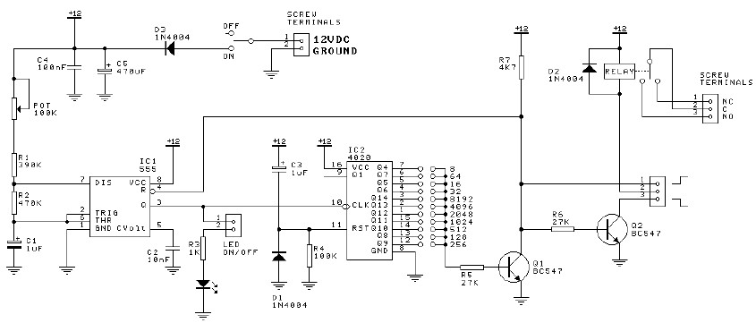 Count down timer using 555 timer circuit
