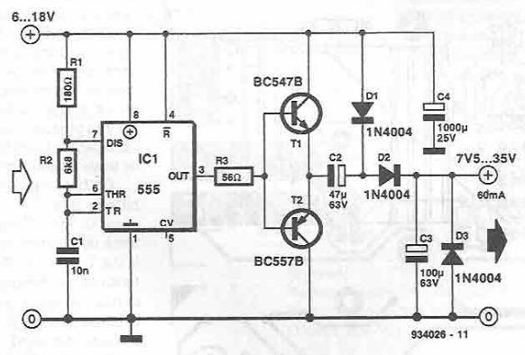 555 timer voltage converter circuit diagram
