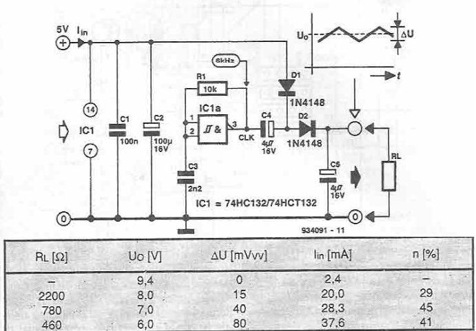 74HC132 схема удвоителя напряжения