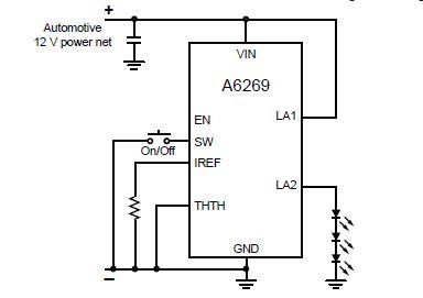A6269 automotive LED driver array circuit diagram