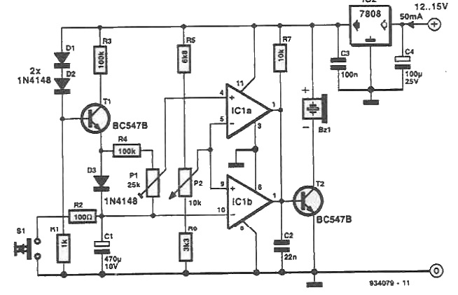 Timing circuit with buzer and ao