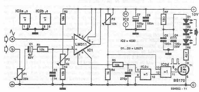 Infrared audio transmitter circuit diagram