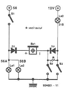 warning circuit for lights