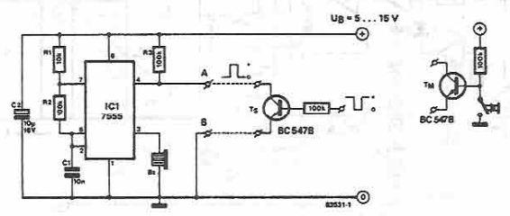 Pressed button sound indicator circuit diagram