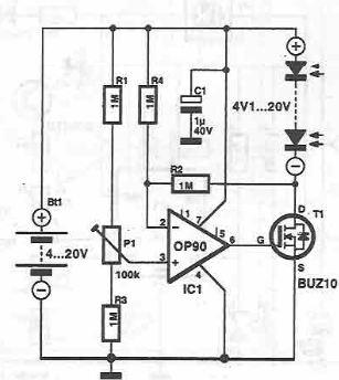 Solar cell power system circuit diagram