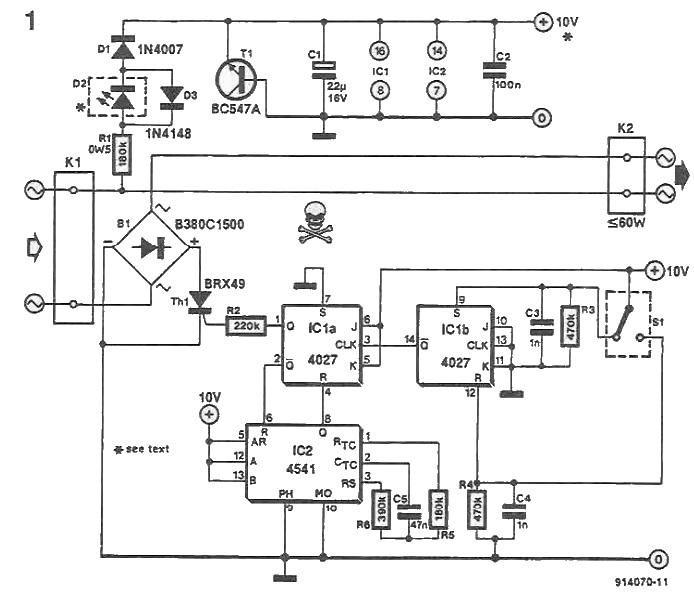 timer for lamp circuit diagram