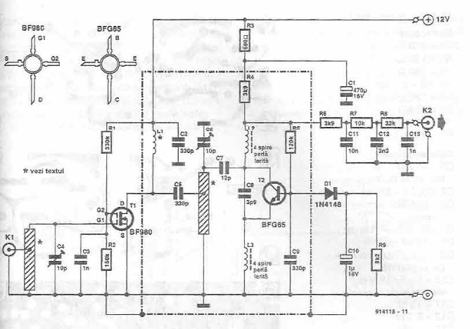 Radio remote receiver circuit diagram
