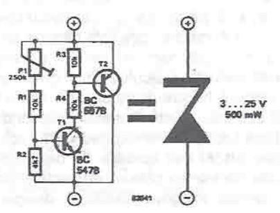 Variable voltageZener circuit diagram project