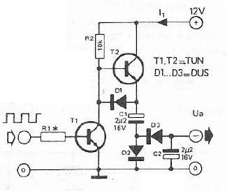 Simple voltage inverter circuit project schematic