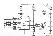 Electronic timer with alarm project circuit diagram