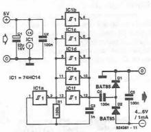 Voltage inverter circuit diagram