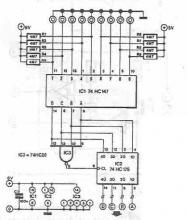 Nine channel sensor electronic switch circuit diagram