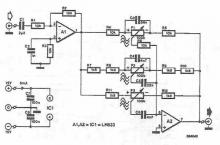 Lm833 tone correction circuit diagram electronic project