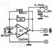 Infrared microphone electronic circuit  project