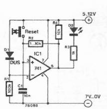 Drop voltage indicator circuit electronic project
