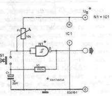 On Off switch electronic project circuit diagram