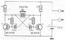 Continuity tester circuit diagram with buzzer