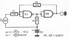 Touch switch schematic electronic project