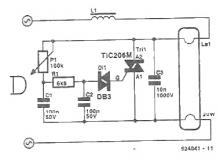 Circuit for dimming a fluorescent tube