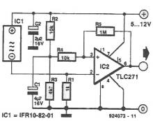 Inductive proximity detector circuit