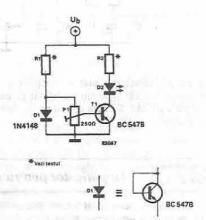 Inexpensive temperature indicator electronic project