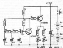 Infrared emitter for remote control circuit diagram