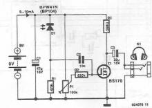 Wireless audio receiver circuit diagram