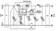LTC1070 6-12 volt DC DC converter circuit diagram electronic project