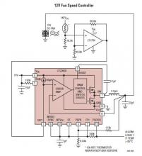 12v fan speed controller electronic project using the LTC3600