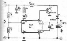 MAX641 voltage doubler circuit diagram electronic project