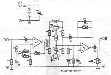 Microphone amplifier circuit diagram with tone correction
