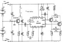 NE565 metal detector circuit diagram