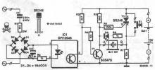 Network voltage indicator electronic circuit
