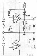TL071 symmetrical power supply circuit